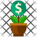 Grow Money Plant Icon