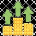 Grow Stock Arrow Coins Icon