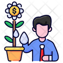 Growing Money Business Icon