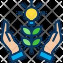 Grow Idea Creative Idea Support Plant Icon