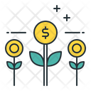 Growing Income Growth Dollar Icon