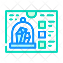 Growing Crystal Color Icon