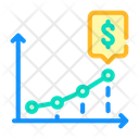 Growing Revenue Infographic Icon