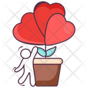 Growing Love Love Flower Love Plant Icon