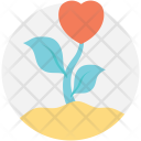Flower Plant Heart Icon