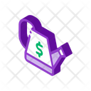 Growing Money Crowdfunding Icon