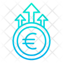 Grown Euro Money Growth Finance Icon