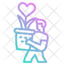 Grown Love Plant Grown Growning Icon