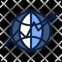 Growth World Globe Icon