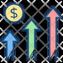 Graph Growth Statistics Icon