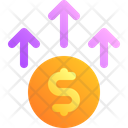 Up Money Coin Icon