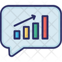 Growth Message Bubble Sales Report Icon