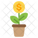 Growth Plant Chart Icon