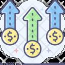 Growth Dollar Growth Money Growth Icon