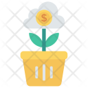 Growth Plant Cloud Icon