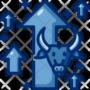 Bullish Bull Market Investment Icon