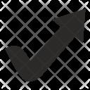 Accept Arrow Grow Icon
