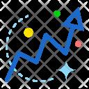 Up Progress Graph Icon