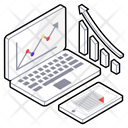 Growth Analysis Online Analytics Business Growth Icon