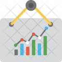 Line Graph Analysis Icon