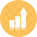 Bar Graph Growth Icon