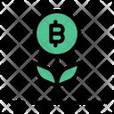 Bitcoin Growth Crypto Icon
