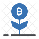 Bitcoin Growth Crypto Icon