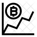 Growth Bitcoin Graph Icon