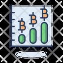Growth Bitcoin Graph Growth Graph Increase Graph Icon