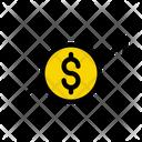 Growth Dollar Marketing Icon