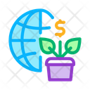 Growth Financial Plant Icon
