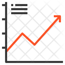 Line Graph Up Icon