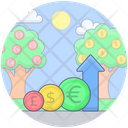 Growth Chart Financial Chart Data Analytics Icon