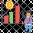 Growth Chart Financial Chart Data Analytics Icon