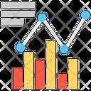 Growth Chart Line Graph Bar Graph Icon