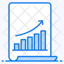 Growth Chart Statistical Chart Statistical Forecasting Icon