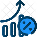 Growth Number Marketing Icon