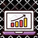 Growth Chart Online Analytics Data Analytics Icon