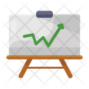 Growth Chart Graphical Presentation Business Presentation Icon