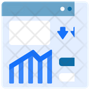 Growth Chart Website Up Icon