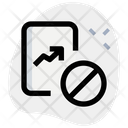 Growth Chart Ban Icon