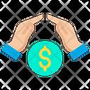 Growth Coins Dollar Icon