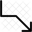 Growth Down Arrow Icon