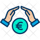 Growth Coins Euro Icon
