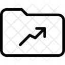 Folder Line Chart Up Icon