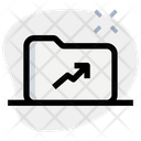 Growth Folder Growth Garph Graph Icon