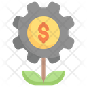 Growth Gear Money Setting Management Icon