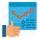 Graph Growth Money Icon