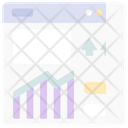 Growth Graph Website Up Icon