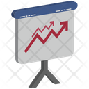Growth Graph On Easel Board Icon